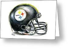 Pittsburgh Steelers Helmet Greeting Card