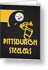 Pittsburgh Steelers Team Vintage Art Greeting Card