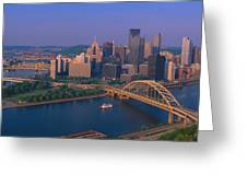 Pittsburgh,pennsylvania Skyline Greeting Card