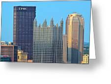 Pittsburghs Big Three Greeting Card