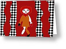 Pittypat Clown Greeting Card