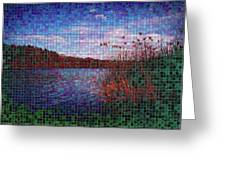 Pixel Lake Greeting Card