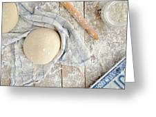 Pizza Dough  Greeting Card