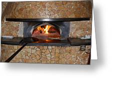 Pizza Oven Greeting Card