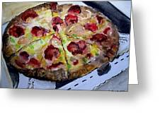 Pizzas Here Greeting Card