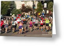 Pikes Peak Marathon And Ascent Greeting Card
