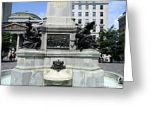 Place D'armes Sculpture 5 Greeting Card