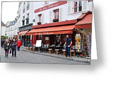 Place Du Tertre In Paris Greeting Card