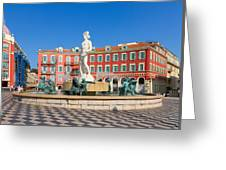Place Massena Of Nice In France Greeting Card