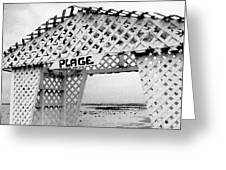 Plage Greeting Card