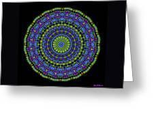 Plaid Wheel Mandala Greeting Card