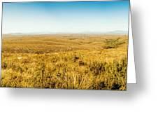 Plain Plains Greeting Card