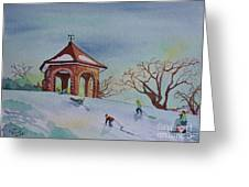 Plaisirs D'hiver Au Parc Macdonald Gardens Greeting Card