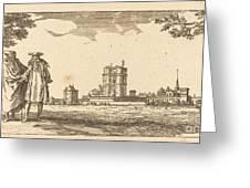 Plan General Du Chasteau Et Petit Parc De Vincennes Greeting Card