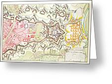 Plan Of Part Of The City And Citadel Of Strasbourg Greeting Card