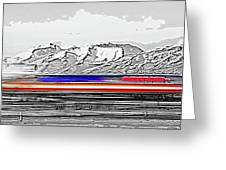 Plane At Airport 1 Greeting Card by Steve Ohlsen