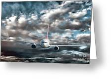 Plane In Storm Greeting Card