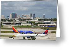 Planes By Fort Lauderdale Greeting Card