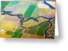 Planet Art Colorful  Midwest Aerial Greeting Card