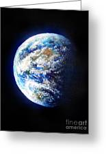 Planet Earth. Space Art Greeting Card