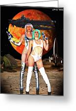 Planet Of The Space Vixens Greeting Card
