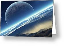 Planet Rise Greeting Card
