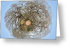 Planet Trees Greeting Card