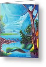 Planeta Agua Greeting Card