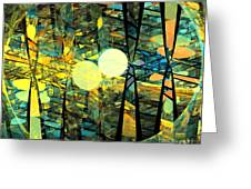 Planetary Ellipses Greeting Card