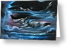 Planetary Falls Greeting Card