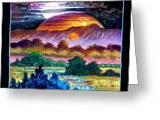 Planets Image Three Greeting Card