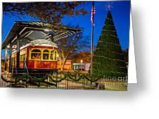 Plano Trolley Car Greeting Card
