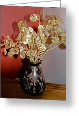 Plant Life In Vase Greeting Card