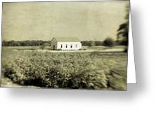 Plantation Church - Sepia Texture Greeting Card