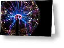 Plasma Sphere Greeting Card