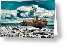 Plassey Wreck Greeting Card