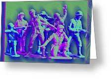 Plastic Army Man Battalion Pop Greeting Card