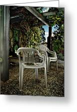 Plastic Chairs Greeting Card