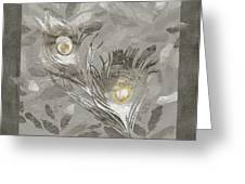 Platinum Feathers, Peacock Feathers Home Fashion Greeting Card