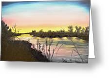 Platte River Sunrise Greeting Card