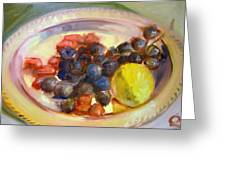 Platter Of Fruit Greeting Card
