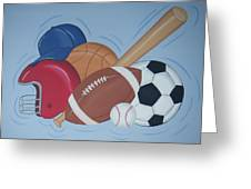Play Ball Greeting Card by Valerie Carpenter