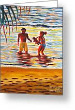 Play Day At Jobos Beach Greeting Card
