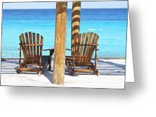 Playa Azul 2 Greeting Card