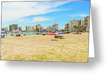 Playa De San Lorenzo In Salinas, Ecuador Greeting Card