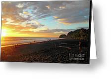 Playa Hermosa Puntarenas Costa Rica - Sunset A One Greeting Card