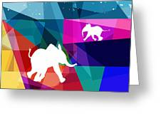 Playful Baby Elephant Greeting Card