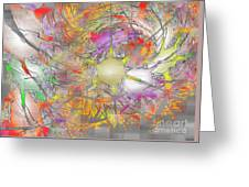Playful Colors Of Energy Greeting Card