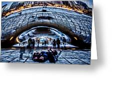 Playful Ladies By Chicago's Bean  Greeting Card