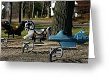 Playground Rides Greeting Card